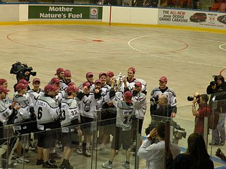 Minto Cup - The Orangeville Northmen celebrate their 2008 championship in Calgary.