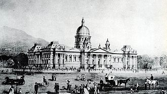 Houses of Parliament, Cape Town - Freeman's original elaborate plan for the new Parliament.