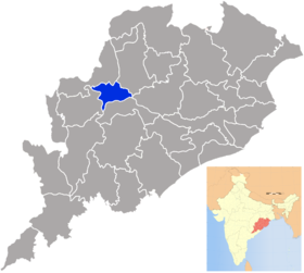 Localisation de District de Subarnapur