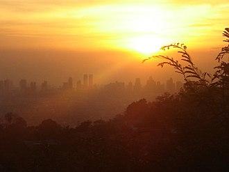 Ortigas Center - Ortigas Center skyline sunset shot from Antipolo City, Rizal Province.