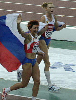 Tatyana Kotova - Tatyana Kotova (right) won bronze medal in 2007 World Championships.