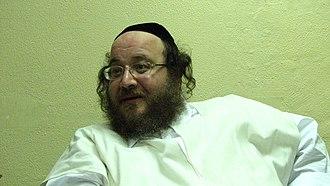 Biala (Hasidic dynasty) - Rabbi Avraham Yerachmiel Rabinowicz, the Ostrova-Bialer Rebbe, in his synagogue in Givat Shaul, Jerusalem, 2006