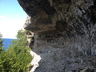 Bruce Peninsula - Overhanging Point along the Bruce Trail