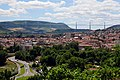 Overview of the Millau viaduct (The famous Millau bridge in the A75) as seen from Embarry, with Millau in the Tarn Valley - panoramio.jpg