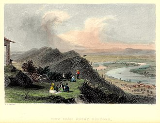 The Oxbow (Connecticut River) - Image: Oxbow W H Bartlett 1835