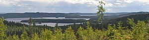 Finnish Lakeland - Lake Päijänne from Paasivuori hill in Central Finland.