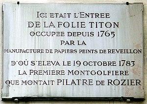 Jean-Baptiste Réveillon - Image: P1060946 Paris XI rue de Montreuil n°31 plaque n°2 rwk