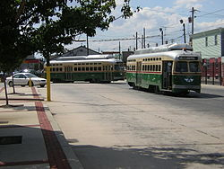 The SEPTA Route 15 trolley serves Francisville
