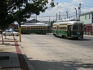 SEPTA PCC II - SEPTA PCC II cars, shortly after entering service on Route 15.