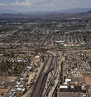 Arizona State Route 51 freeway in the Phoenix metropolitan area