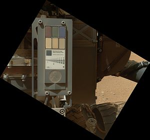 Color calibration - Image: PIA16132 Mars Curiosity Rover Calibration Target 20120909
