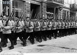 Sonderdienst - Sonderdienst battalion in occupied Kraków, July 1940