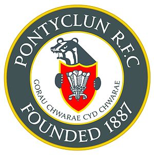 Pontyclun RFC - Image: PRFC New Badge Black
