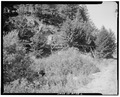 PROFILE VIEW OF FLUME, LOOKING SOUTHWEST - Kimmerly Ditch and Flume, Avon, Powell County, MT HAER MONT,39-AVO.V,2-2.tif