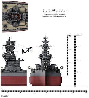 Pagoda mast - The typical pagoda mast of the Fusō