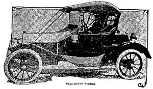 Paige automobile - 1911 Paige-Detroit Roadster - Syracuse Herald, October 22, 1911