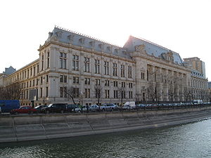 The Palace of Justice in Bucharest