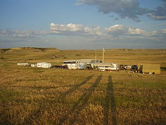 Hell Creek Formation - Paleontological camp of Museum of the Rockies in eastern Montana - Hell Creek Formation (summer dig season 2009)