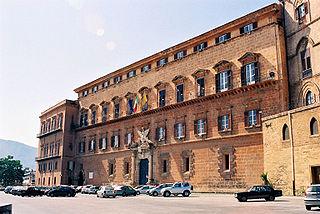 Renaissance façade of the palace.
