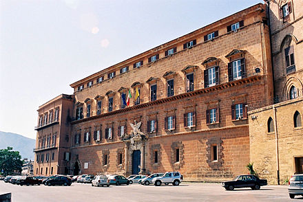 Palazzo dei Normanni, seat of the Sicilian Regional Assembly.