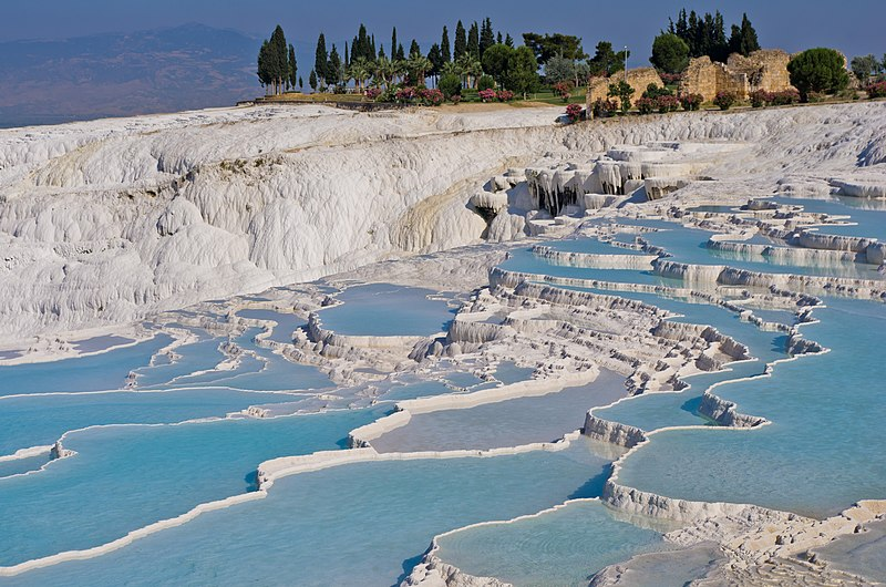 see: Pamukkale's terraces, Turkey
