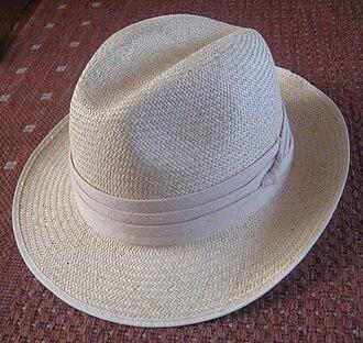Panama hat - A Panama hat