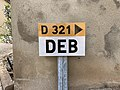 Panneau E53c Deb Route D321 Verosvres 1.jpg