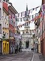 Paradiesstraße und Lutherkirche in Konstanz zur Fasnachtszeit.jpg