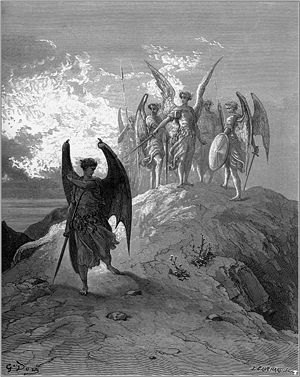 Gustave Doré's illustration for Milton's Parad...