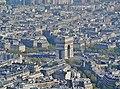 Paris Tour Eiffel Blick von der 3. Ebene auf den Arc de Triomphe de l'Étoile 2.jpg