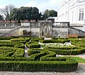 Parterre, flowers, box and statue, Oldway Mansion, Paignton - geograph.org.uk - 699385.jpg