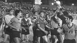 PAS Tehran F.C. - Pas players celebrating their first league championship in 1967