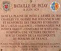 Patay (Loiret), plaque commémorative de la Bataille de Patay (1429) à la mémoire de Jeanne d'Arc et des troupes écossaises.jpg