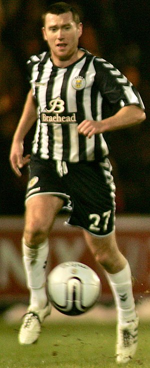 Patrick Cregg - Cregg playing for St Mirren