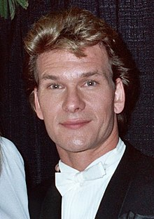Patrick Swayze - 1990 Grammy Awards (cropped).jpg
