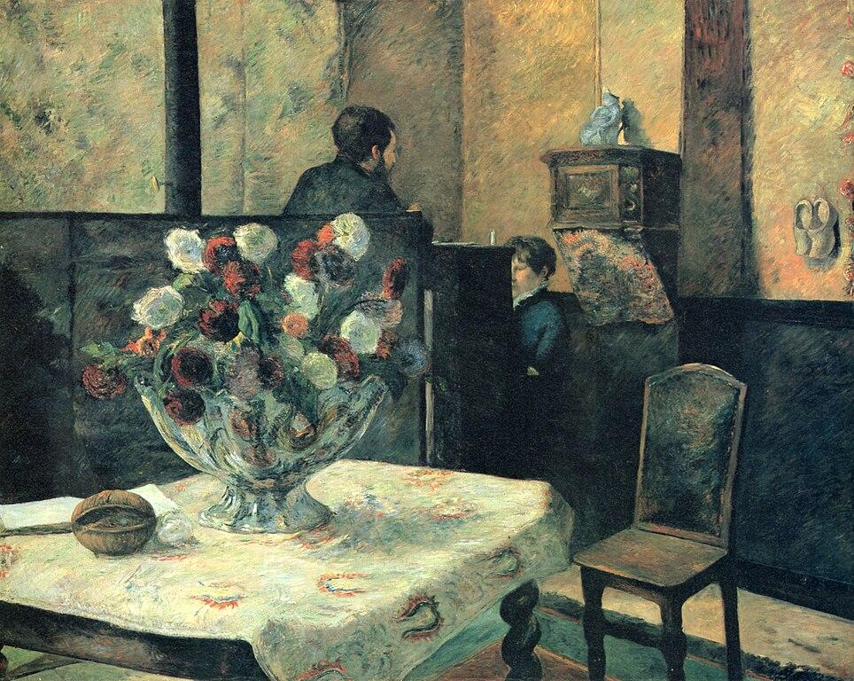 File:Paul Gauguin, Interieur du peintre Paris, rue Carcel ...
