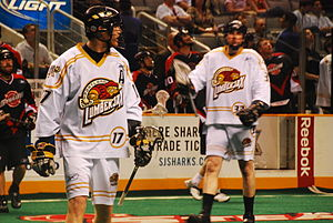 Portland LumberJax - Brodie Merrill (left) and Richard Morgan (right) in 2008