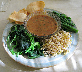 Peanut sauce Indonesian seasoning