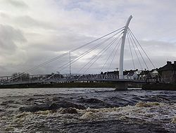Pedestrian footbridge over Ridge Pool on River Moy in Ballina Co Mayo.jpg