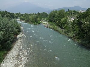 Pellice - The river at Bibiana.