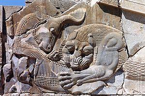 Mah - Image: Persépolis. Lion & taureau 2