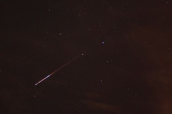 Perseid meteor shower in Austin Texas.