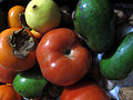 Persimmon, lemon, tomato, avocado (19092987262).jpg