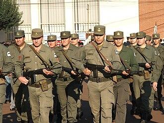 Argentine National Gendarmerie - Argentine Gendarmes in Oberá in Misiones