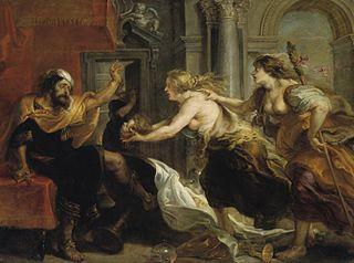 Térée confronté à la tête de son fils Itys