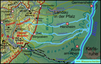 Course of the Otterbach (below)