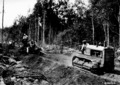 Photograph of Tractor Pulling Grader on New Road Near Sailor Lake Camp - NARA - 2127539.tif