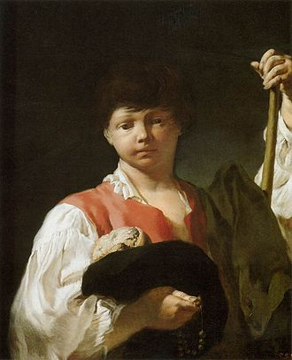 Giovanni Battista Piazzetta - Beggar boy (1725-30), oil on canvas. Art Institute of Chicago