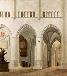 Pieter Jansz. Saenredam: Inside St Bavo Church in Haarlem