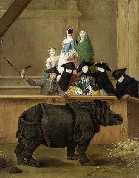 Pietro Longhi: Clara il rinoceronte a Venezia, 1751 (National Gallery)